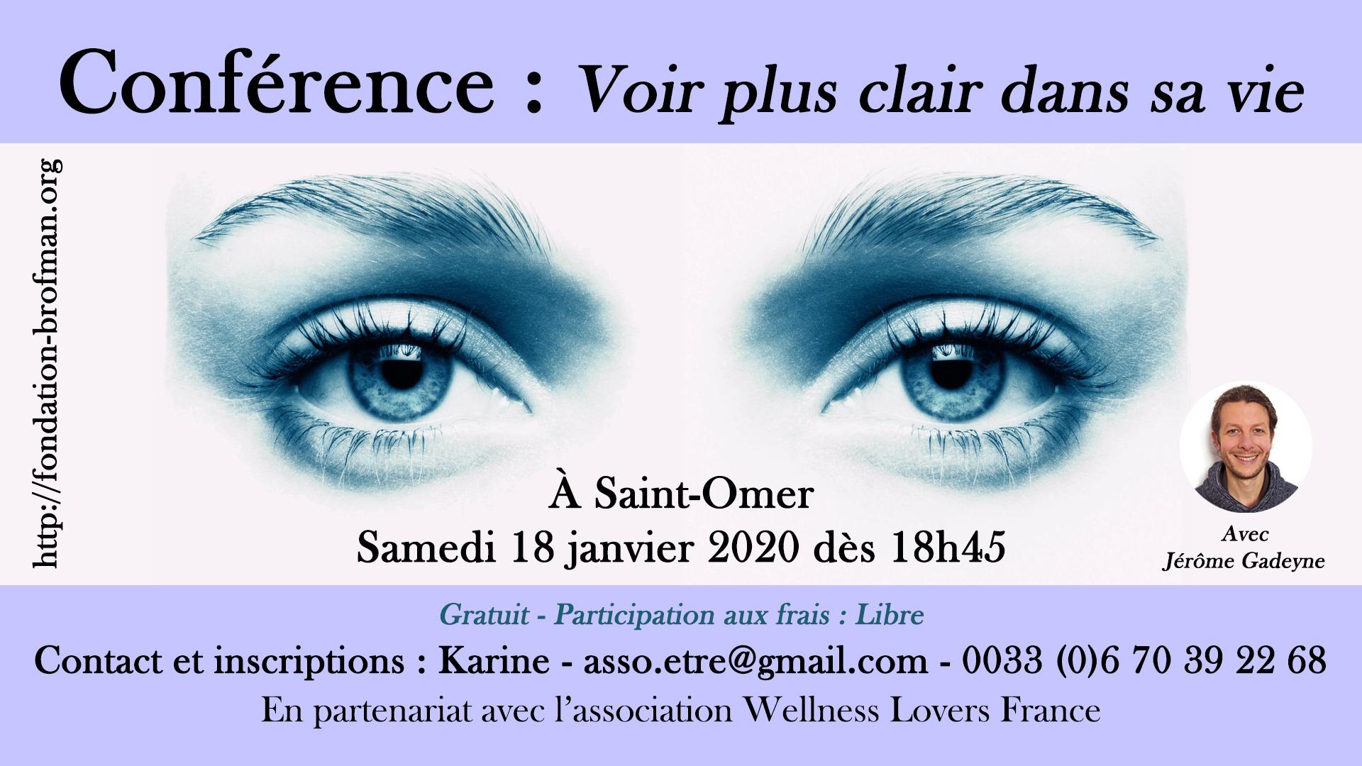 Conf Voir plus clair dans sa vie - St-Omer
